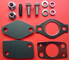 EGR REMOVAL BLANKING PLATE KIT c/w GASKETS MITSUBISHI 2.8 2.5 3.2 PAJERO DELICA