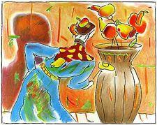 """Peter Max    """"Robed Man and Vase""""    MAKE  OFFER    DSSTD"""