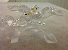 FREE SHIPPING!! Retired Swarovski Crystal Two Turtledoves Lovebirds On A Branch