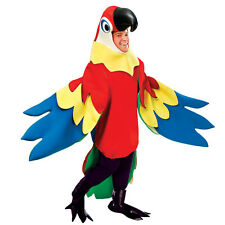 #PARROT ADULT DELUXE FANCY DRESS BIRD ANIMALS & NATURE COSTUME