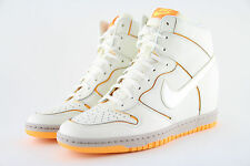 Nike Women's Dunk Sky Hi Cut Out Wedge Trainers Cream size UK 7 EU 41