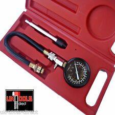 Petrol Engine Compression Tester 14 & 18mm INSTRUCTIONS  psi,bar,kg/cm2, kPa