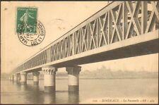 33 BORDEAUX CARTE POSTALE LA PASSERELLE 1911