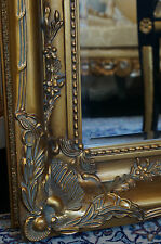 Large gilt mirror frame antique design louis xv rococo style bevelled