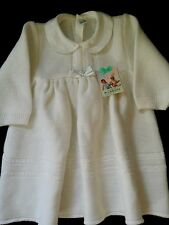 Vintage 70's baby dress white Original / New with tags -  Size 2