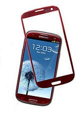 TOP QUALITY SANSUNG GALAXY S3 i9300 OUTER SCREEN GLASS REPLACEMENT LENS RED