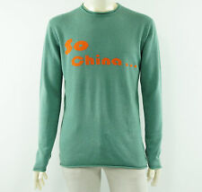 SHANGHAI TANG So China... Mens Silk Cashmere Green Thin Jumper Sweater Size M