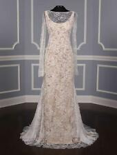 AUTHENTIC Vera Wang Luxe Paige Ivory Lace Wedding Dress 8 RETURN POLICY