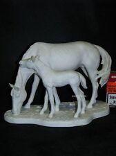 Goebel Porzellan Figur Bochmann zwei Pferde Horse, Pferd mit Fohlen 32-303