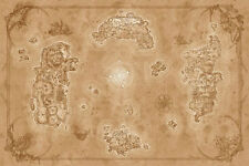 GQ88 HD World of Warcraft MAP Chronicles 36x24 inches Azeroth Game Map Poster