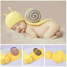Cute Newborn Baby Snail Photography Photo Props Crochet Beanie Outfits