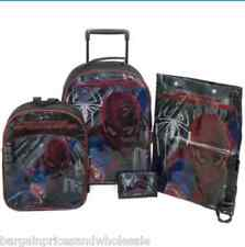 The Amazing Spider-man 4 Piece Luggage Set Trolley Backpack Shoes Bag Wallet