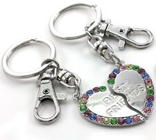 Best Friend BFF Mother's Day & Valentines Day Gift Heart Keychain Key Ring Charm