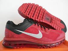 MENS NIKE AIR MAX + 2013 GYM RED-REFLECTIVE SILVER-BLACK SZ 14  [554886-602]