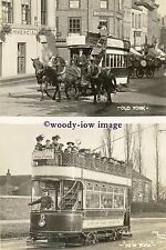 a0645 - York Horse Tram & Electric Tram no 5 - photograph