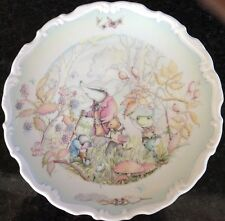 The Wind In The Willows Royal Doulton Porcelain Plate By Christina Thwaites