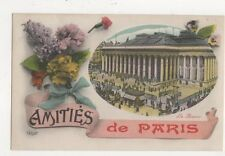 La Bourse Amities De Paris France Vintage Postcard 765a