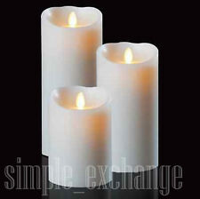 Set of 3 Vanilla Scent Luminara Fireless Candles (free remote) - free shipping