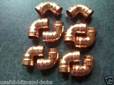 10 x 15mm Elbow 90 degree Copper Solder Ring Yorkshire Plumbing Fittings New