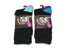 6 PAIRS OF WOMENS / LADIES ALESSIA ROSSINI BLACK SOCKS WITH COLOUR HEEL & TOE