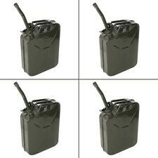 4pc 5 Gallon Jerry Can Gas Fuel Steel Green Military NATO Style 20L Storage Tank
