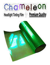 2 x A4 Sheets Chameleon Green Car Motorbike Headlight Rear Lamp Tinting Film