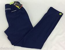 Under Armour MEN'S Athletic Pants Fitted Heat Gear Navy Blue Green Size M