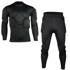 Men's Soccer Football Goal Keeper Goalie Padded Long Pants & Jersey Shirts Tops