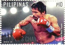 B. New 2011 Pacman Manny Pacquiao Card & 2015 Philippines Stamp Postal USA Ship