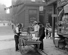 Photograph Vintage New York Clam Seller in Mulberry Bend 1904c   8x10