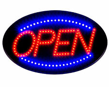 Ultra Bright Jumbo Size LED Neon Light Animate Flash OVAL OPEN Business Sign B30