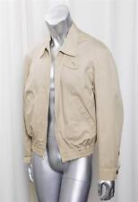 BALLY Mens Classic Casual Khaki Beige Cotton Zip-Up Long-Sleeve Bomber Jacket 38