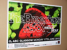 THE BREEDERS - rare tour concert / gig poster - june 2013