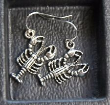 925 sterling silver earrings pewter Lobster 1 pair Maine Ocean Life Sea Beach