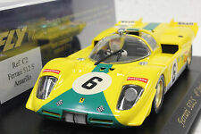 FLY C2 FERRARI 512S 4th PLACE IMOLA 1970 NEW 1/32 SLOT CAR IN DISPLAY CASE