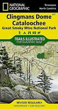 National Geographic Trails Illustrated TN/NC Clingmans Dome Nat Park Map 317