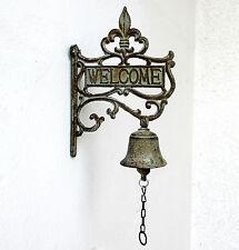 Türglocke Gusseisen Glocke Welcome Geläut Antik Deko Landhaus rustikal Neu