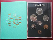 Tuvalu 1976 7 Coin 1 Cent - 1 Dollar Proof Set sealed Case Envelope Royal Mint