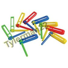 12 BRIGHT COLORFUL TWISTNG RATCHET TWISTING BIRD PARROT FOOT TOYS PARTS