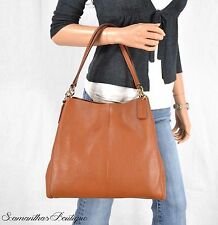 NWT COACH BROWN LEATHER SHOULDER BAG HANDBAG SATCHEL PURSE HOBO