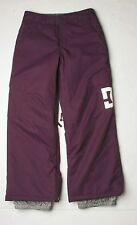 DC Shoes Girls Banshee K Snowboard Pants (M) Purple Pennant