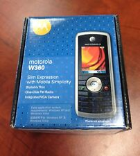 Motorola W360 Mobile phone w VGA Camera Unlocked NEW