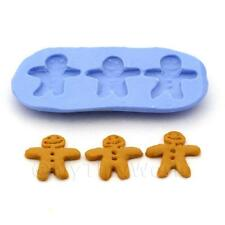 Dolls House Miniature 3 Piece Gingerbread Men Silicone Mould