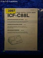 Sony Bedienungsanleitung ICF C88L Clock Radio (#3997)