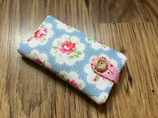 iPhone 5 / 5S / 5C / SE Padded Case - Cath Kidston Blue Provence Rose Fabric