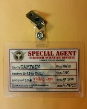 Agent Carter / Captain America ID Badge -SSR Special Agent Male cosplay costume