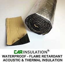 Waterproof Foil Faced Sound Deadening Foam Bonnet Engine Thermal Insulation 2.5m