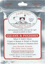 2-CAPE COD POLISH CLOTHS  FOR JEWELRY, ALL METALS AND FINE WATCH SCRATCH REMOVAL
