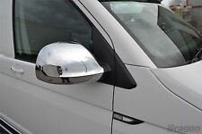 2015+ VW T6 Transporter ABS Shiny Chrome Mirror Covers Van Accessories