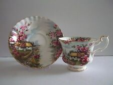 "Royal Albert Bone China County Scenes ""ROSE COTTAGE"" w/gold gilt trim"